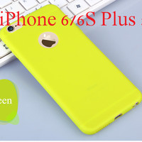 """Green Luxury Ultra Slim Soft Silicone Phone Back Cover Case for Apple iPhone 6 Plus/6s Plus 5.5"""""""