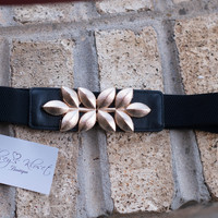 Black Gold Leaf Belt