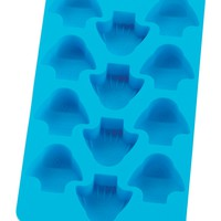 HIC Blue Silicone Fish Shaped Ice Cube Tray and Baking Mold