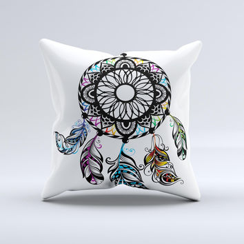 The Fancy Dreamcatcher ink-Fuzed Decorative Throw Pillow