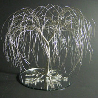 When Two Become One Wedding Cake Topper - Silver Willow Mounted On Mirror