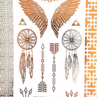DIY Temporary Flash Tattoos with Angel Wings