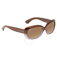 Original Ray Ban RayBan Jackie Ohh Brown Gradient Rectangle Sunglasses RB4101 860/51 58
