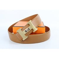 Hermes belt men's and women's casual casual style H letter fashion belt508