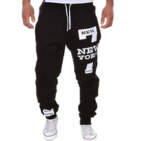 Fashion Pants For Men Plus Size Hiphop Streetwear FUxk YOU Letters Printed Casual Harajuku Trousers Joggers drawstring