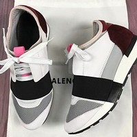 Wearwinds BALENCIAGA Popular Women Men Personality Color Matching Casual Shoes Red/White/Grey/Black I-OMDP-GD