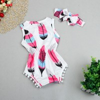 Baby Girl Pink Romper with headband