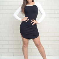 Sporty Spice Dress - Black