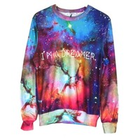 Women/men Harajuku Style Space Print Galaxy Pullovers Hoodies 3d Sweatshirts L