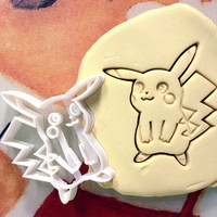 Pokemon Pikachu Cookie Cutter great for cutting Bread, Cheese, Soft fruit and more