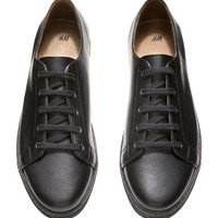 Leather Sneakers - from H&M