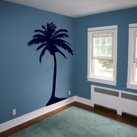 Hawaiian Coconut Palm Tree - Vinyl wall art removable decals stickers by 3rdaveshore