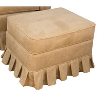 Angel Song 221820172 Faux Suede Camel Adult Continental Stationary Ottoman