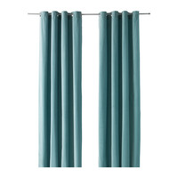 "SANELA Curtains, 1 pair, light turquoise - light turquoise - 55x98 "" - IKEA"