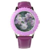 Pink Purple Columbine flowers Wrist Watches