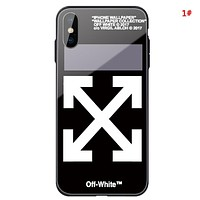 Off White New fashion letter arrow print couple protective cover phone case 1#