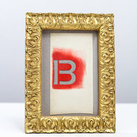 Antique Gold Style Photo Frame - Wedding Table Number - Home Wall Decor - Photo Prop - 5.9x7.9 inch