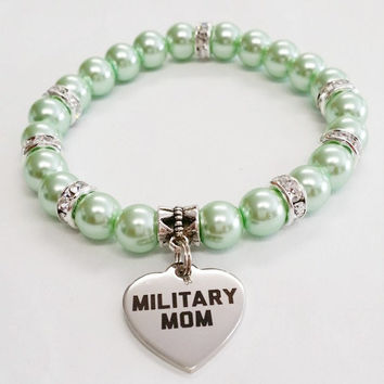 Military Gifts | Military Mom Jewelry | Mom Bracelet | I Love my Soldier Jewelry | Deployment Gift | Gift For Her | Gift For Mom