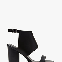 Faux Leather Ankle Cuff Sandals