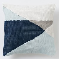 Chindi Colorblock Pillow Cover - Pale Harbor
