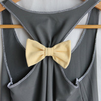 Attachable Bow - Convert a Racerback in Yellow