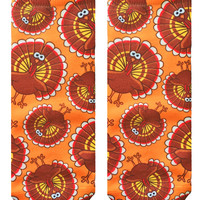 Turkey Pattern Ankle Socks