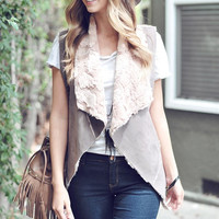 Mushroom Vest with Faux Lining (Preorder)