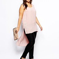 Truly You   Truly You Dipped Hem Sleeveless Top at ASOS
