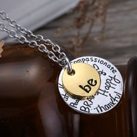"""""""Be"""" Inspirational Jewelry Pendant Necklace"""