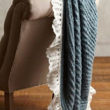 Scalloped Fringe Throw by Anthropologie