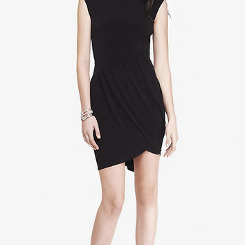 SLEEVELESS DRESS WITH TULIP HEM from EXPRESS
