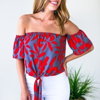 Call It What You Want Tie Front Crop Top