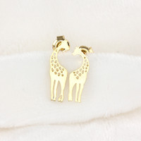 Loving Giraffe Earrings