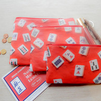 Mah Jongg Pouch/ Pencil Case/ Pouch/ Gift for Her/ Mothers Day Gift/ Coin Purse/ Best Friend Gift/ Wife Gift/ Gift for Women/ Mah Jongg Gift