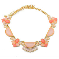 Rose & Opal Statement Necklace