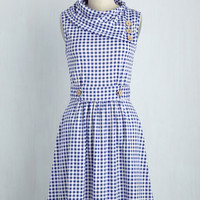 Coach Tour Dress in Gingham | Mod Retro Vintage Dresses | ModCloth.com