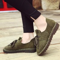 Spring shoes 2018 new arrival fashion women shoes loafers flock butterfly knot casual female shoes tenis feminino size 5.5-8.5
