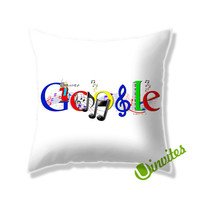 Google Music Logo Square Pillow Cover