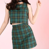 Glitters For Dinner — Made To Order - Charli Tartan 2 piece Set in Green