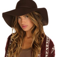 Brown Fall Floppy Hat