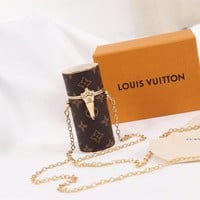 LV Louis Vuitton WOMEN'S MONOGRAM CANVAS LIPSTICK BOX