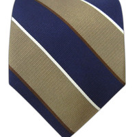 Boarding Stripe - Champagne/Navy | Ties, Bow Ties, and Pocket Squares | The Tie Bar