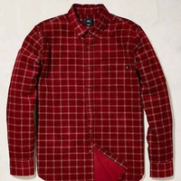 OBEY Halen Cord Windowpane Button-Down Shirt