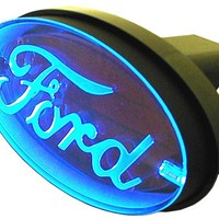 Ford - Brake and Tail Light L.E.D. Trailer Hitch Cover Pilot Automotive Hitch Covers CR-017F