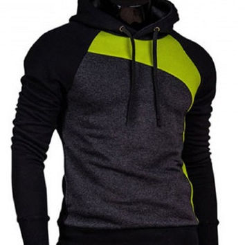 Trendy Men's Slimming Hoodies with Long Sleeves.
