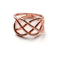 Double Infinity Ring | Rose Gold Jewelry at Pink Ice