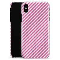 The Pink and White Slanted Stripes - iPhone X Clipit Case