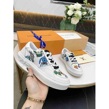 Louis Vuitton LV women's Men's Fashion Boots fashionable Casual leather Breathable Sneakers Running Shoes 0504