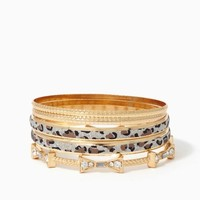 Leopard Sandblast Bangle Set | Bracelets - Jewelry | charming charlie