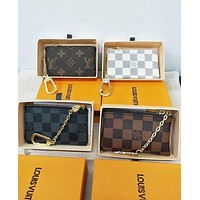 Louis Vuitton LV Hot Sale Classic Monogram Canvas PU Leather Small Coin Purse Key Pouch I/A